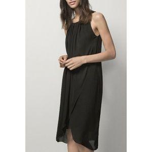 Massimo Dutti Mulberry Silk Black Sheath Dress